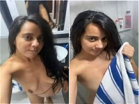 Today Exclusive- Sexy Girl Record Her Nude video