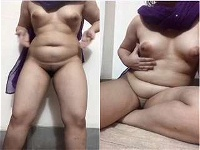 Today Exclusive- Sexy Desi Girl Strip her Saree And Showing Her Nude Body