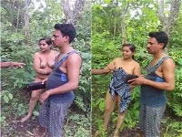 Today Exclusive-Odia Cheating Wife Outdoor Romance Caught By Village People
