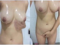 Today Exclusive-Sexy Figure Paki Girl Record Nude Video